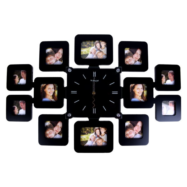 ... Decorative Family Picture decorative wall clock – Glass Frame