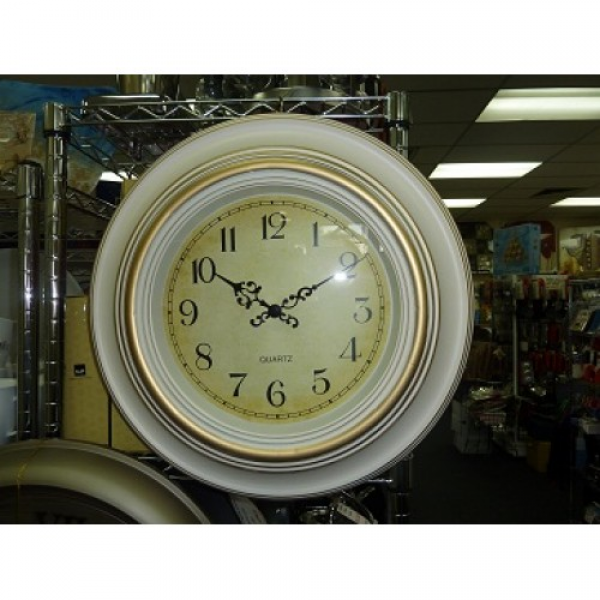 ANTIQUE WHITE ROUND WALL CLOCK Home Giftware Online, Buy Sheet Sets ...