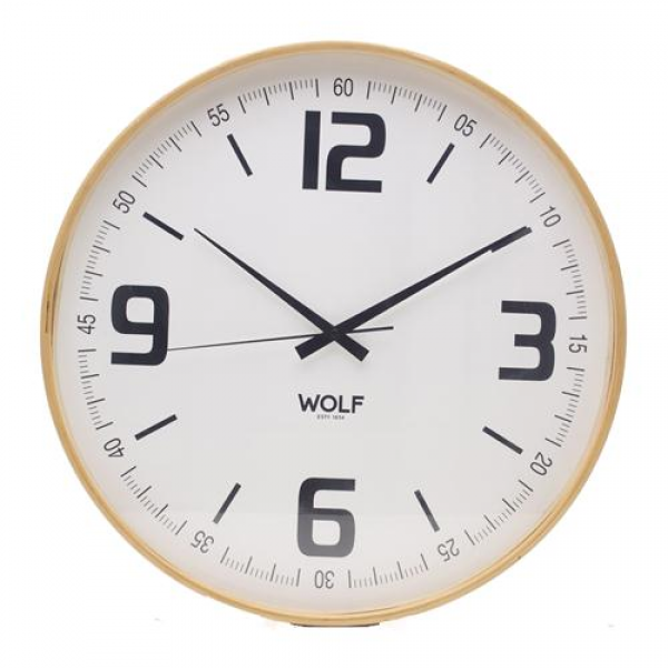 21 Round Wall Clock-White