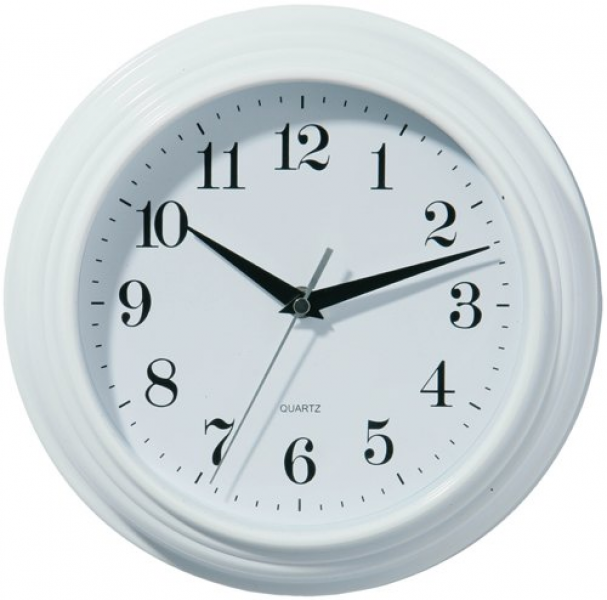 Cranford White Round Wall Clock