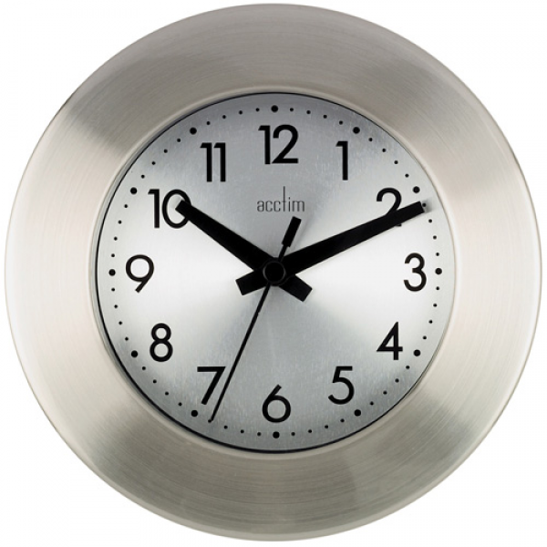 ... are here: Home > Wall Clocks > Button Brushed Metal Wall Clock 16cm
