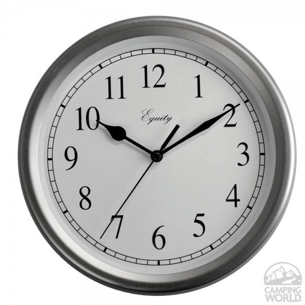 Brushed Nickle Wall Clock - La Crosse 28283 - Furnishing ...