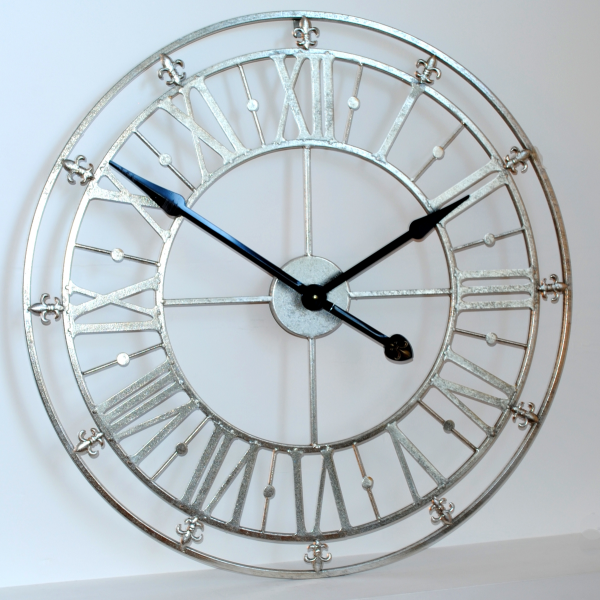 Unique and Original Silver Iron Skeleton Wall Clock Online UK