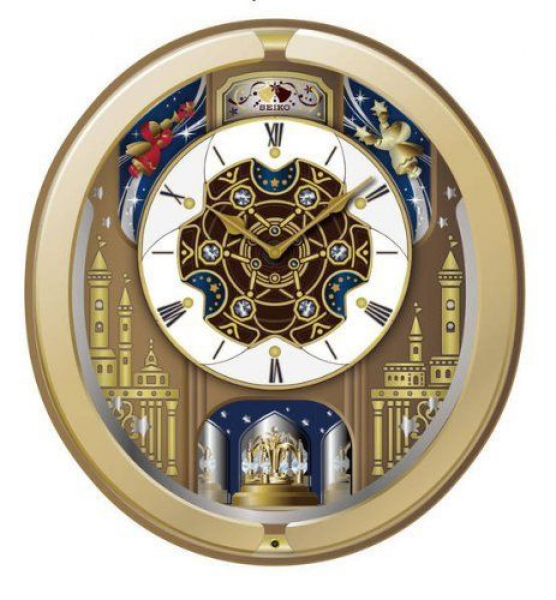 Seiko Japanese Quartz 18 HiFi Melodies Swarovski Crystals Wall Clock ...