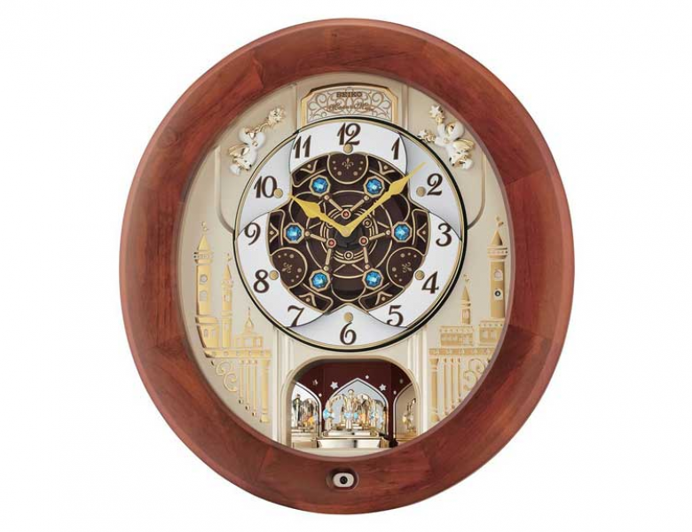 Seiko QXM531BRH Melodies in Motion Japanese Quartz Wall Clock