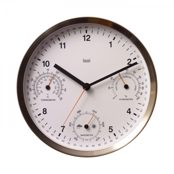 ... > Clocks > Wall Clocks > Bai Design 768.WW 10-in Brushed Stain