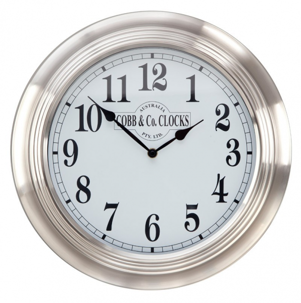 COBB & Co. Stainless Steel Wall Clock | COBB & Co. UK/Europe