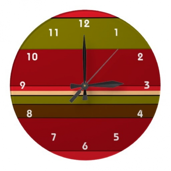 Bold Stripes Wall Clock ~ This simple yet decorative wall clock ...