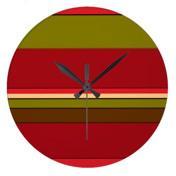 Bold Stripes Wall Clock