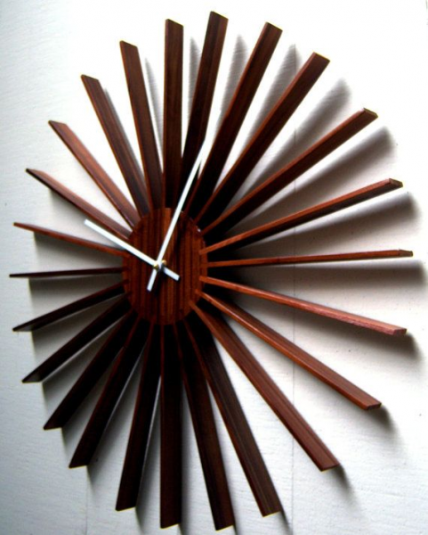 Modern Star Burst Wall Clock From Dark Cedar. Still looking for other ...