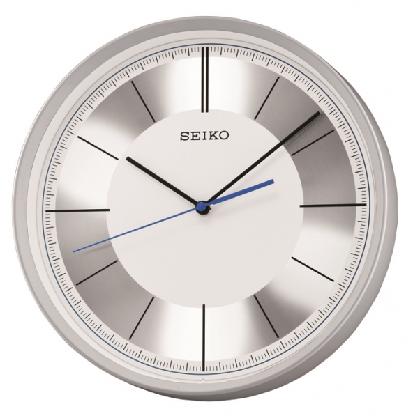 Modern Metallic Effect Silver Seiko Wall Clock