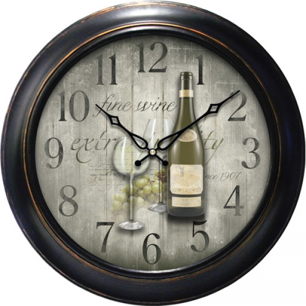 18 Fine Wine Dial Quartz Analog Wall Clock