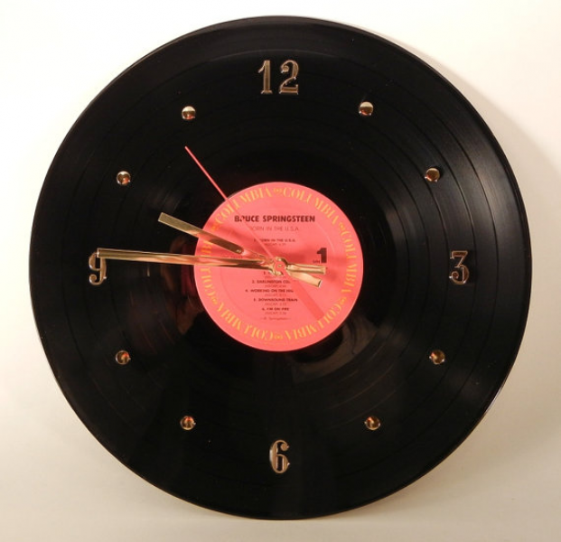 BRUCE SPRINGSTEEN Vinyl Record Wall Clock Born by RecordsAndStuff