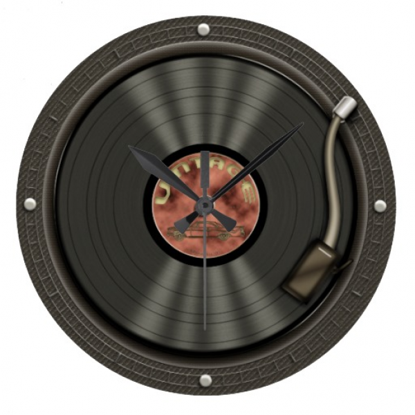 Vintage Vinyl Record Wall Clock | Zazzle