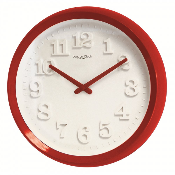 Wall Clocks › London Clock Co › London Clock Co Simple Red Modern ...