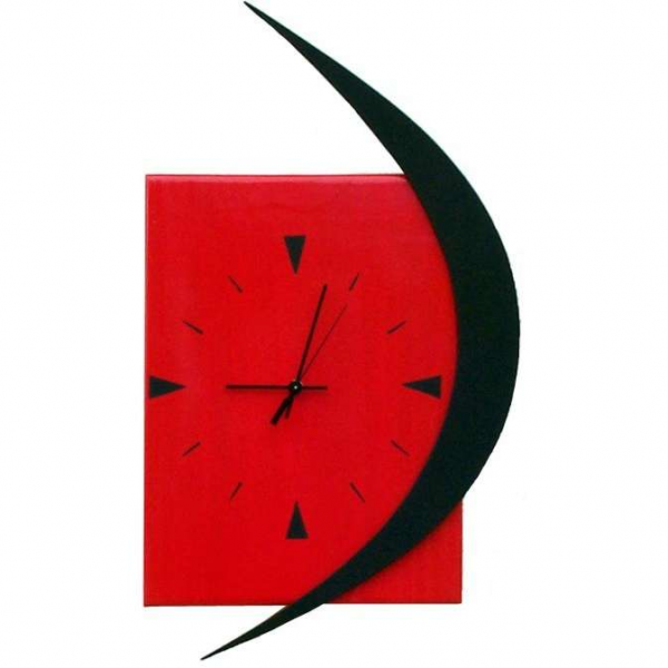Red and Black modern wall clock | ThisNext