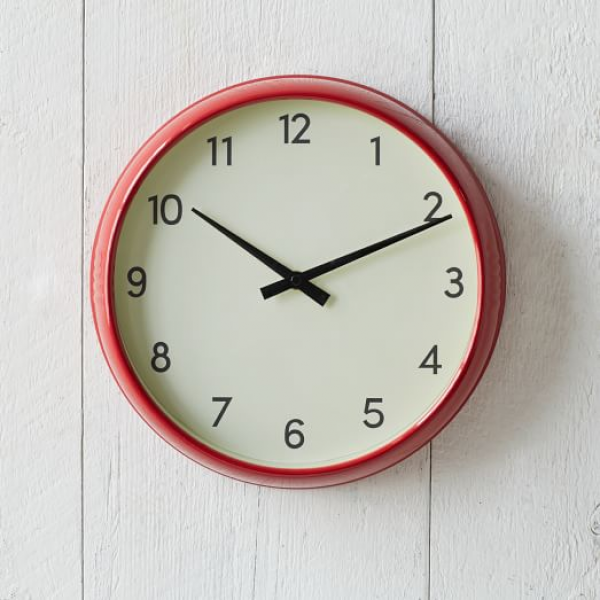Basic Wall Clock - Red | west elm