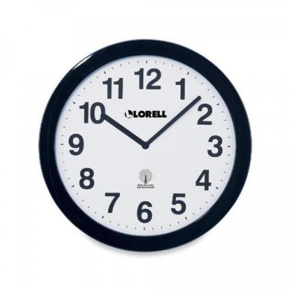 Lorell Radio Controlled Wall Clock LLR60997: Decor : Walmart.com