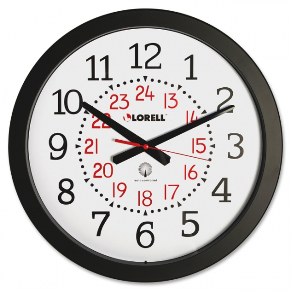 Lorell Radio Controlled Wall Clock - 60993 - Clocks - LORELL Clocks ...