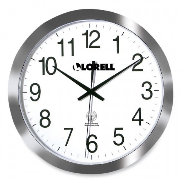 Lorell Radio Controlled Wall Clock - Digital - Quartz - Atomic ...