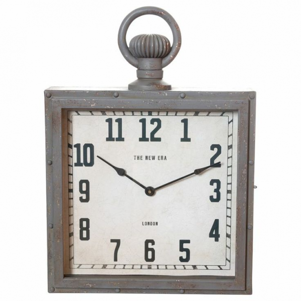 Square Metal Wall Clock | Ideas For Our HOME | Pinterest