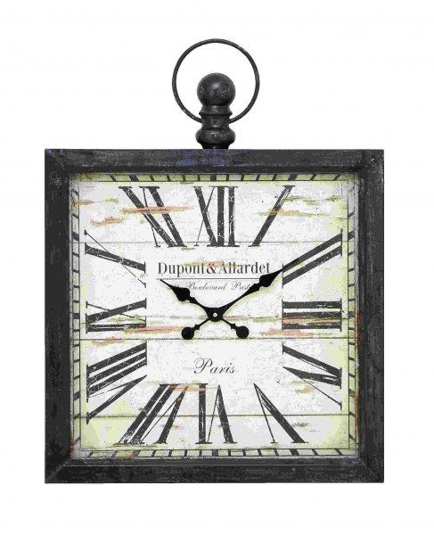 Large Square - Metal Clock Wall Art [NMD52517]