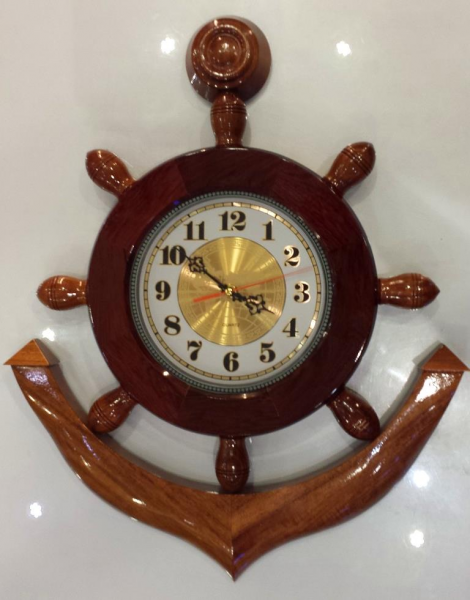 22' Solid Wood Ship Anchor Wall Clock (end 4/13/2016 4:15:00 PM MYT)