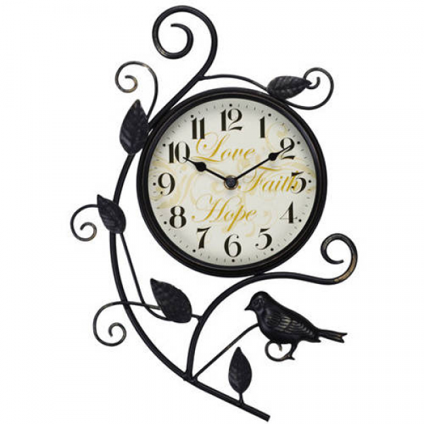 Better Homes and Gardens 15.25 Bird Wall Clock - Walmart.com