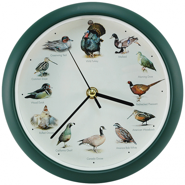 NEW Hourly Wild Game Bird Sound Wall OR Tabletop Clock Unique Home ...