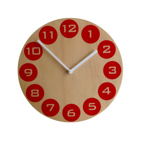 Objectify Red Dot Wall Clock - hardtofind.
