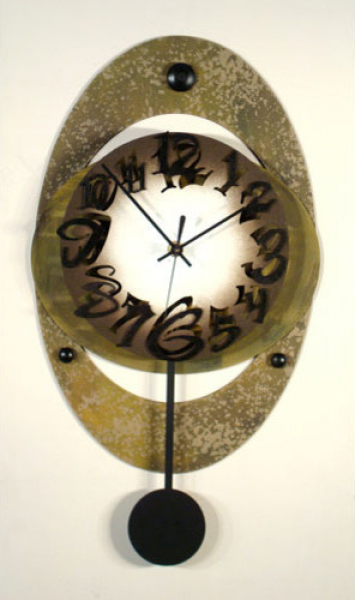 Large Oval Wall Clock - Modern - Clocks