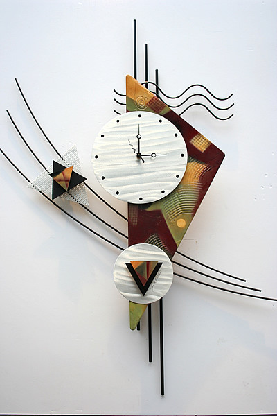 Metal Wall Clock Sculpture - Contemporary - Wall Clocks - other metro ...