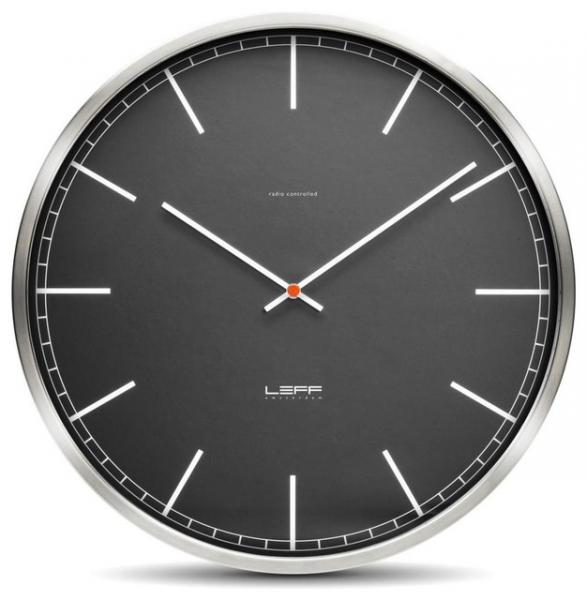 One45 Wall Clock - Stainless Steel, Black Index - Modern - Wall Clocks ...