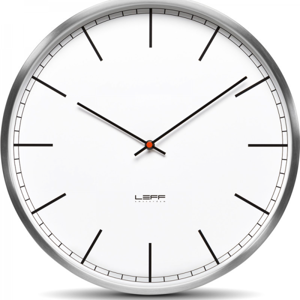 ... >LEFF amsterdam One45 Wall Clock | Stainless Steel/White Index
