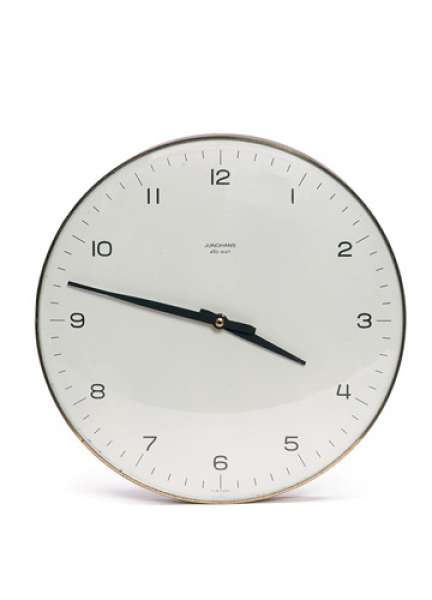 Max Bill's wall clock for Junghans.