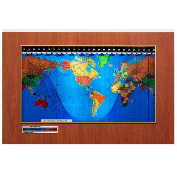 Geochron Geochron Original Kilburg World Wall Clock - Walmart.com