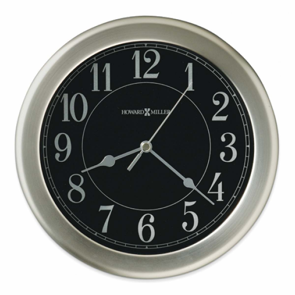 Goldia Libra Brushed Nickel Finish Wall Clock - Pricefalls.com