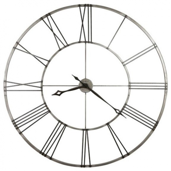 Wall Clock in Brushed Nickel Finish - Contemporary - Wall Clocks ...