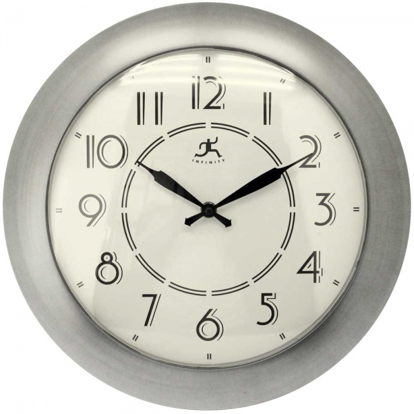 ... Nickel Wall Clock by Infinity Instruments - 14 - 17 Wall Clocks