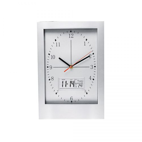 Unique hanging wall clock and weather station in aluminium and plastic ...