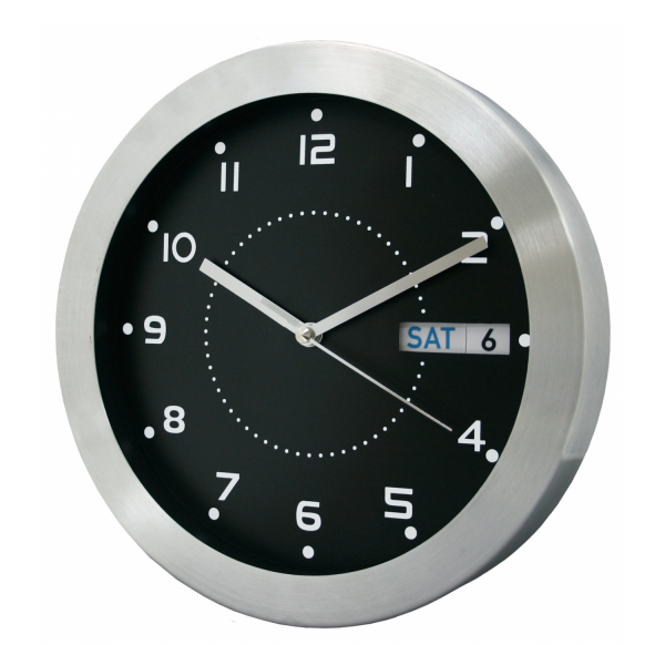 ... about 87784 Equity by La Crosse 11 Day & Date Metal Analog Wall Clock