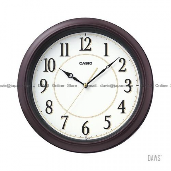 CASIO IQ-60-5 analogue wall clock simple easy read (end 4/17/2016 11 ...