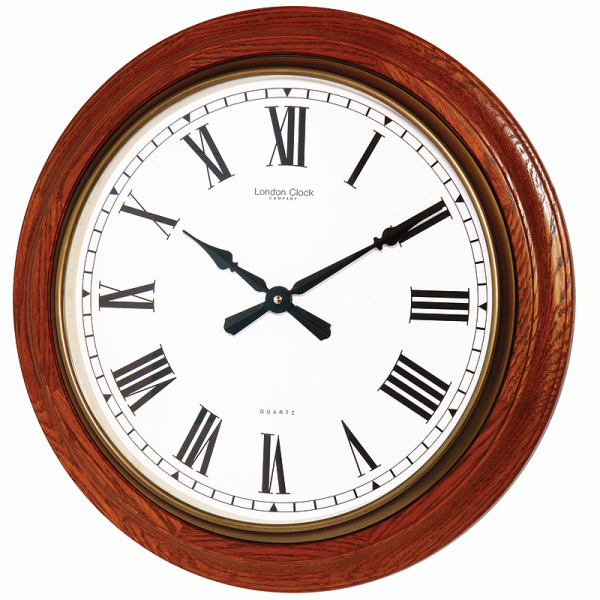 Large Oak Wall Clock