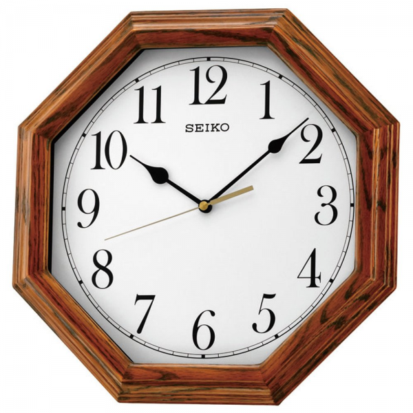 Home › Clocks › Seiko › Seiko Octagonal Wooden Wall Clock - Oak ...