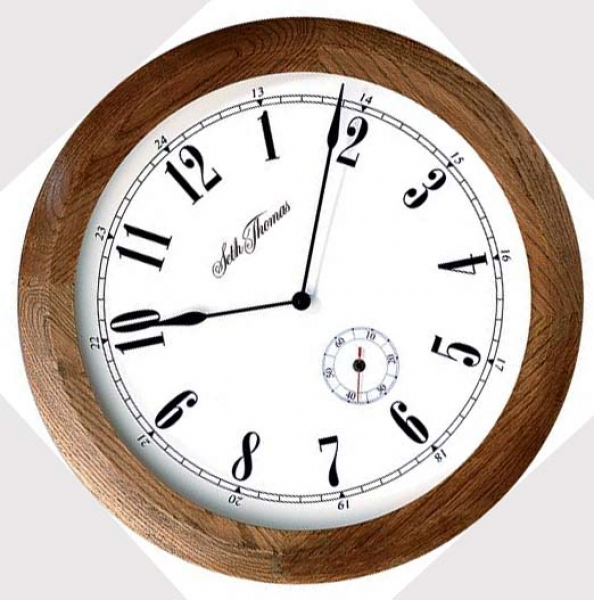 Oak wall clock: