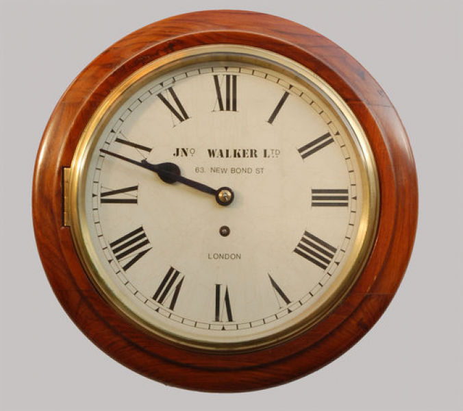 Antiques Atlas - Oak Circular Wall Clock