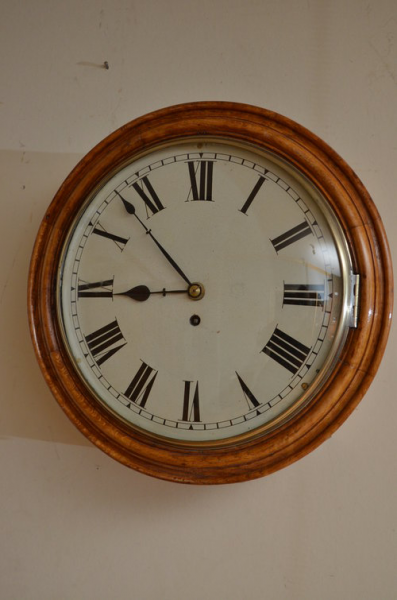 Antiques Atlas - Victorian Oak Wall Clock