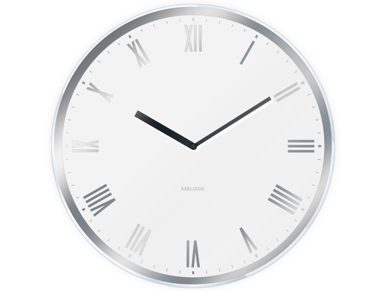Karlsson | Modern Roman Wall Clocks - Black or White