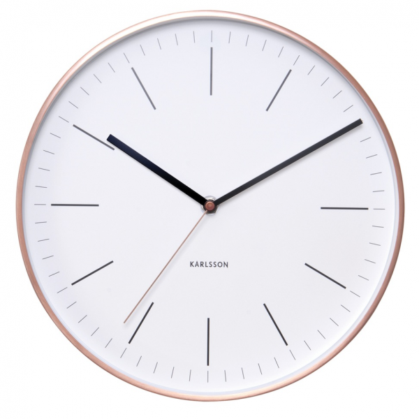 wall clock minimalist 27 5cm 99 00 notes classic station style wall ...