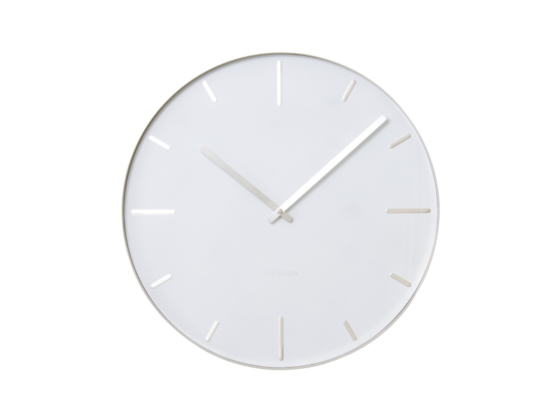 Details about Karlsson Belt Round Wall Clock, 40cm, White, KA5444WH